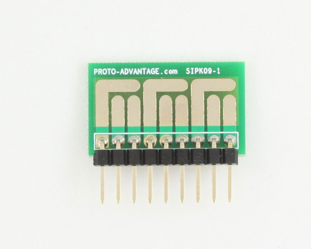 SOT-23, 3mm and 4mm inductor adapter -  9 pin 1