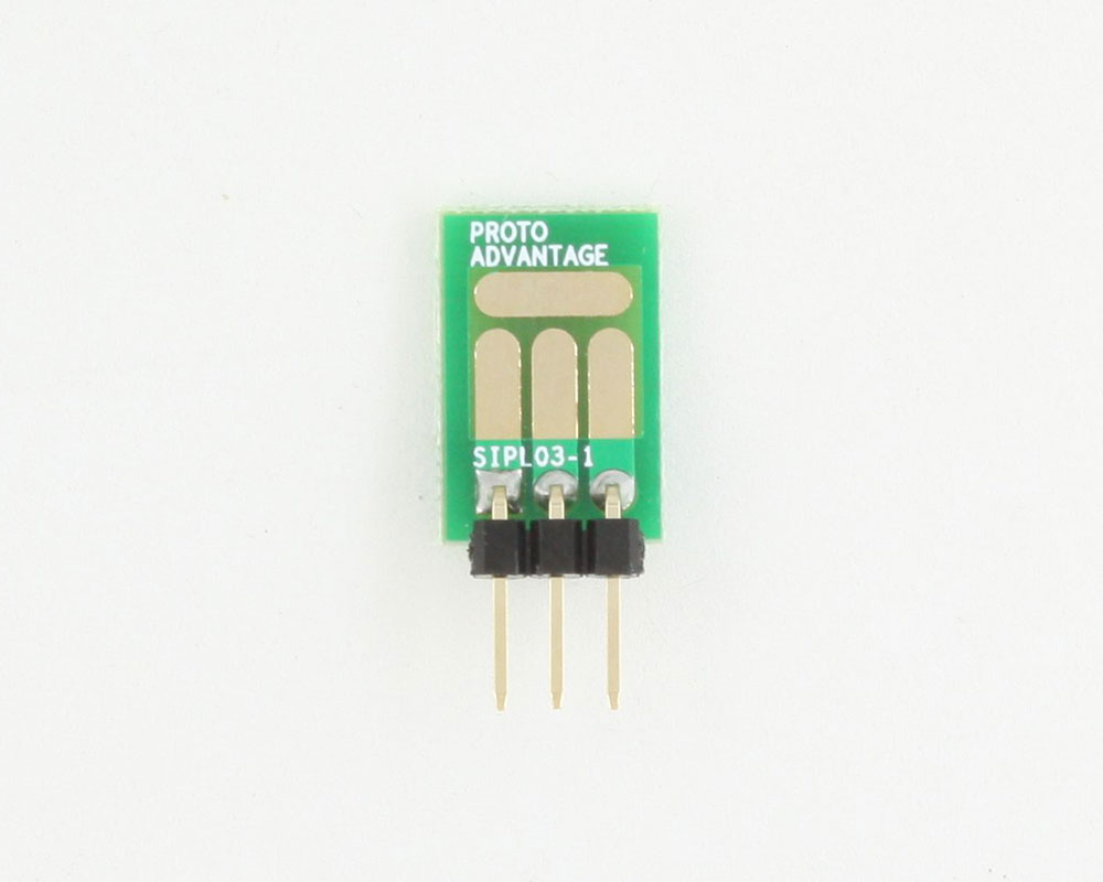 SOT-23, 3mm and 4mm inductor adapter, common trace -  3 pin 1