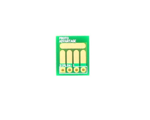 SOT-23, 3mm and 4mm inductor adapter, common trace -  4 pin 0