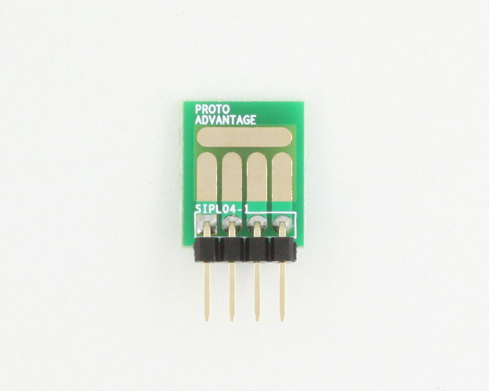 SOT-23, 3mm and 4mm inductor adapter, common trace -  4 pin 1