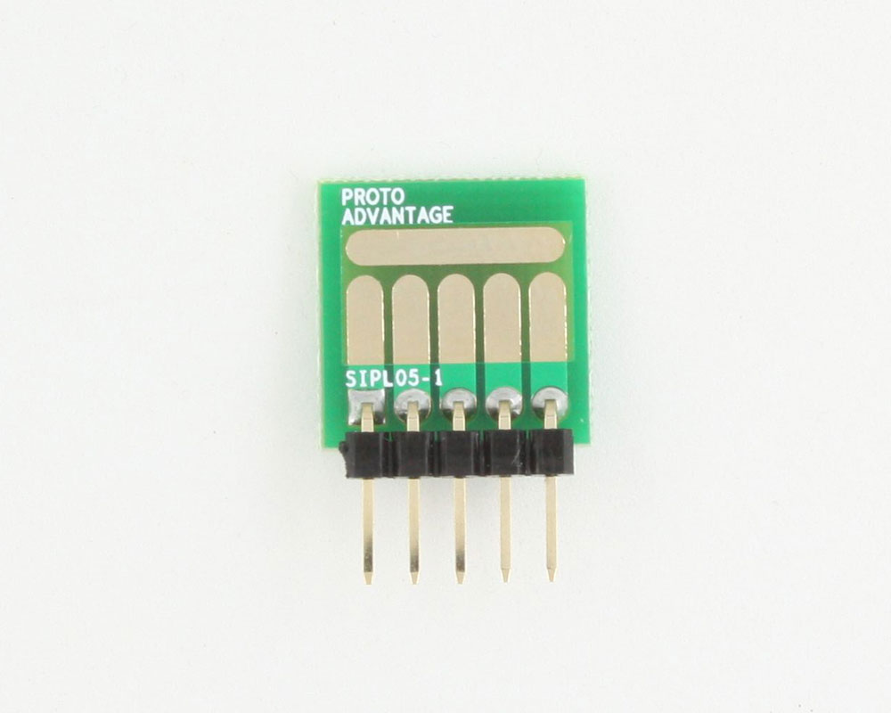 SOT-23, 3mm and 4mm inductor adapter, common trace -  5 pin 1