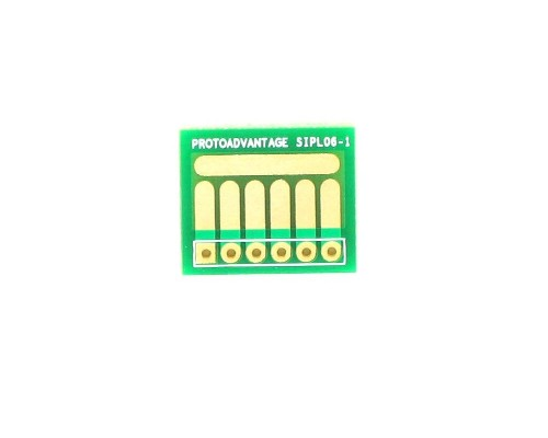 SOT-23, 3mm and 4mm inductor adapter, common trace -  6 pin 0