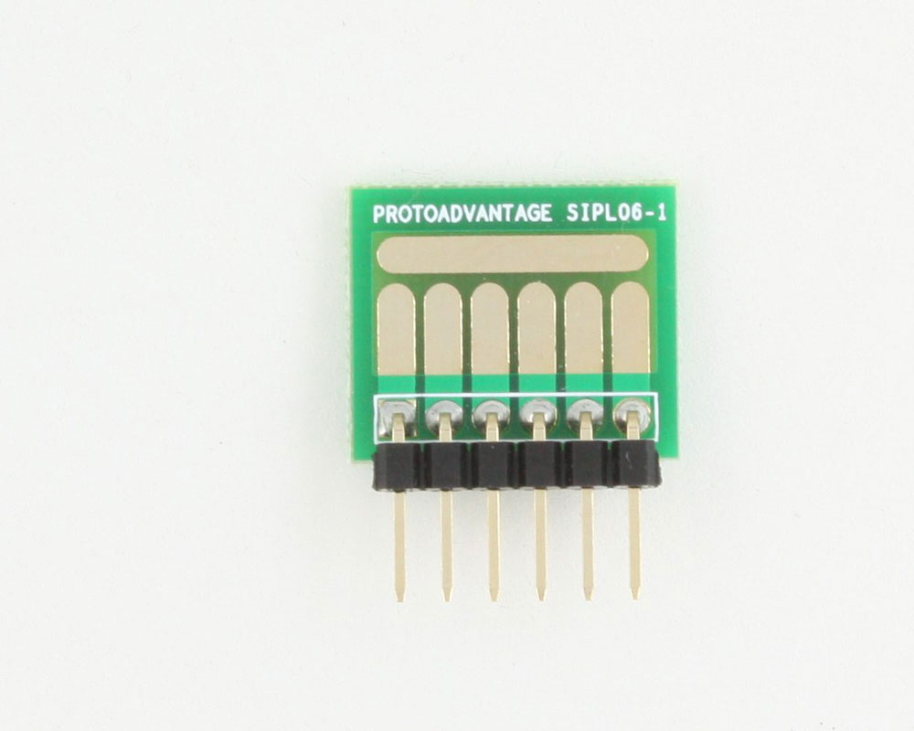 SOT-23, 3mm and 4mm inductor adapter, common trace -  6 pin 1