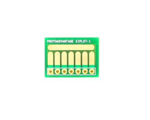 SOT-23, 3mm and 4mm inductor adapter, common trace -  7 pin 0