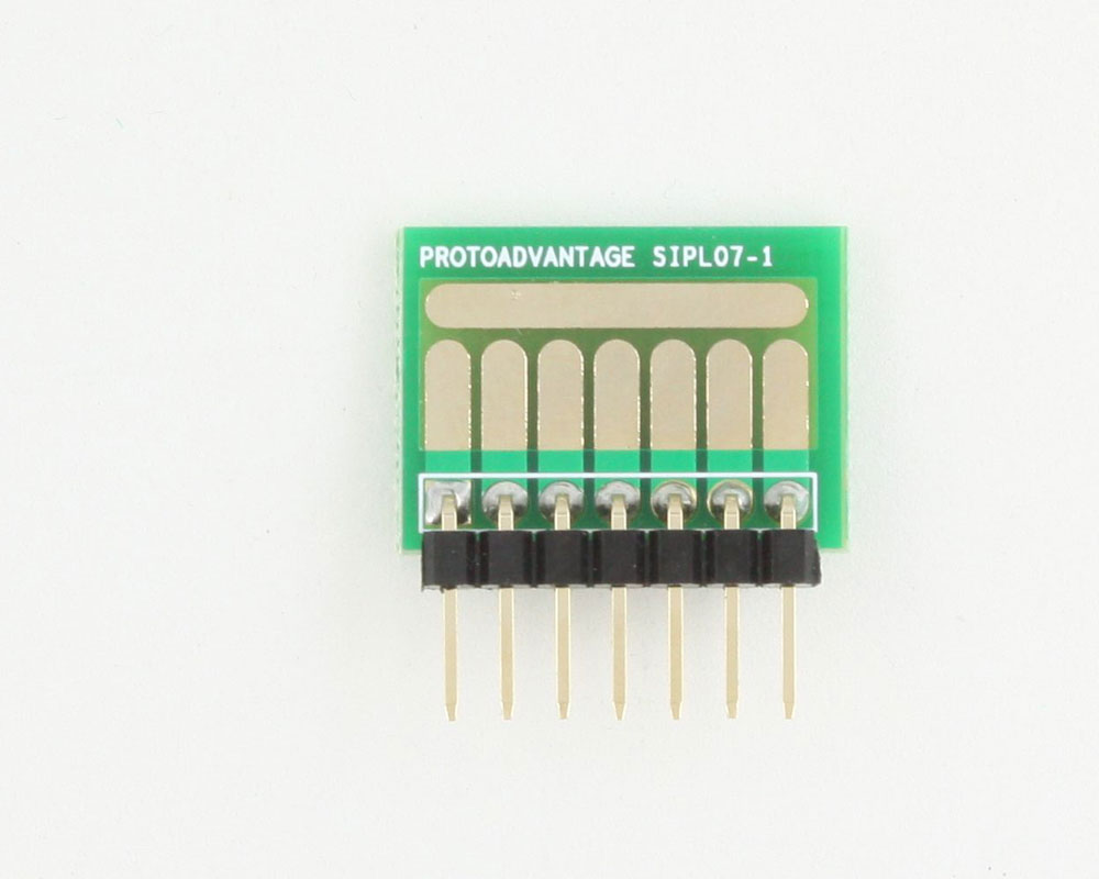 SOT-23, 3mm and 4mm inductor adapter, common trace -  7 pin 1