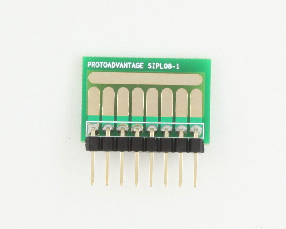 SOT-23, 3mm and 4mm inductor adapter, common trace -  8 pin 1