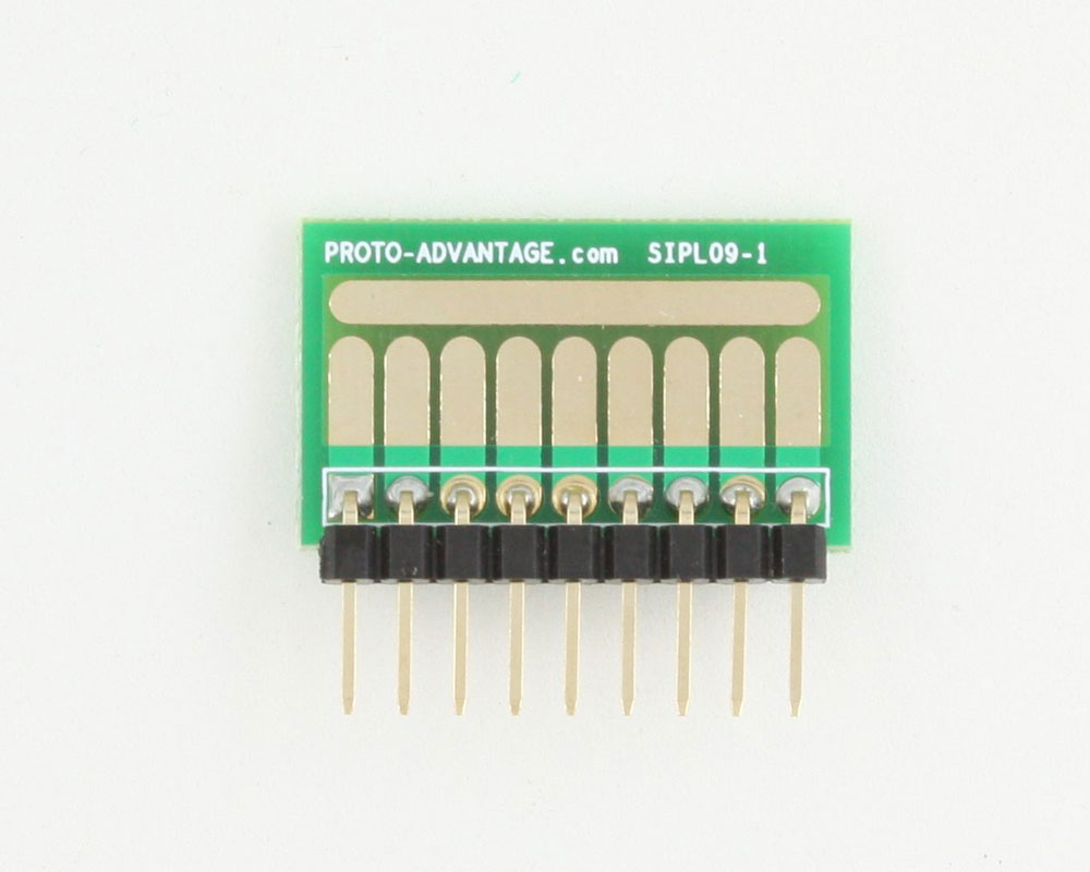 SOT-23, 3mm and 4mm inductor adapter, common trace -  9 pin 1