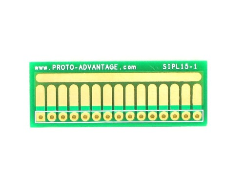 SOT-23, 3mm and 4mm inductor adapter, common trace - 15 pin 0