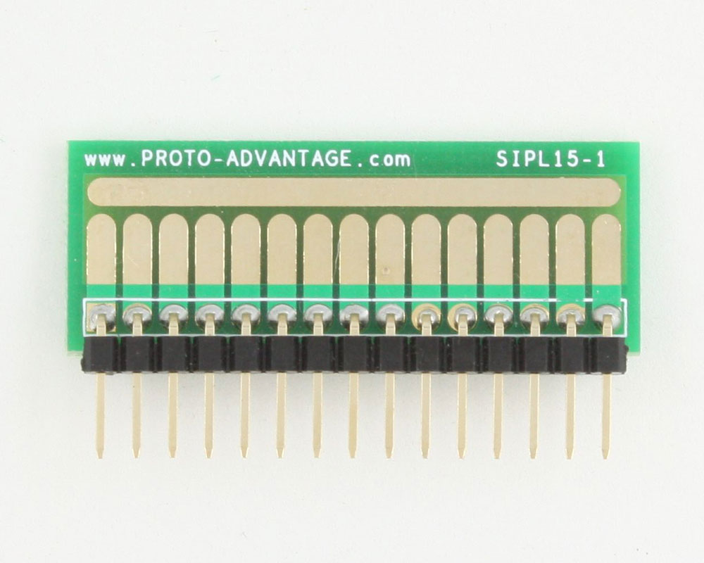 SOT-23, 3mm and 4mm inductor adapter, common trace - 15 pin 1