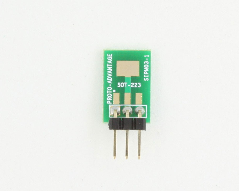 SOT-223 to SIP SMT Adapter 1