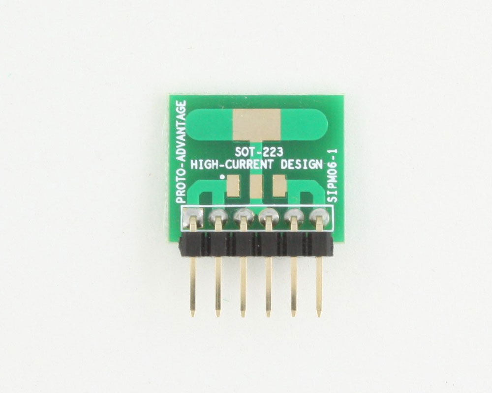 SOT-223 to SIP SMT Adapter (High Current) 1