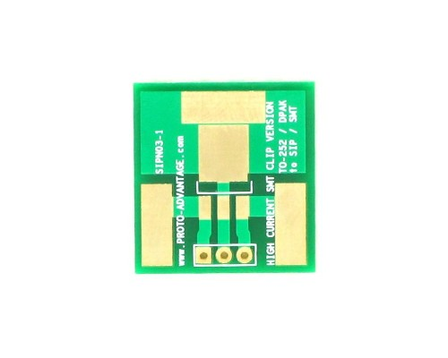 TO-252 (DPAK) to SIP SMT Adapter (High Current SMT Clip-on) 0
