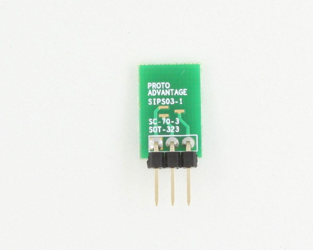 SC-70-3 to SIP SMT Adapter 1