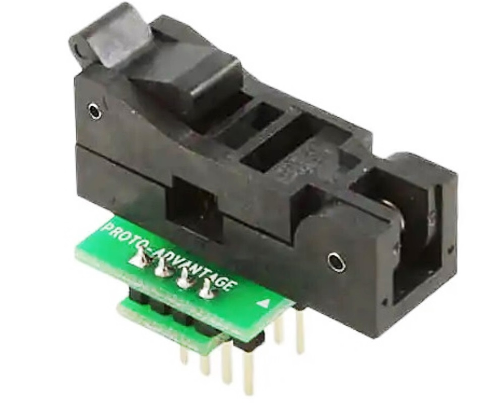 SOIC-8 Socket to DIP-8 Adapter (150 mil body, 1.27 mm pitch) 0