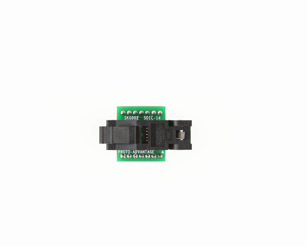 SOIC-14 Socket to DIP-14 Adapter (150 mil body, 1.27 mm pitch) 1