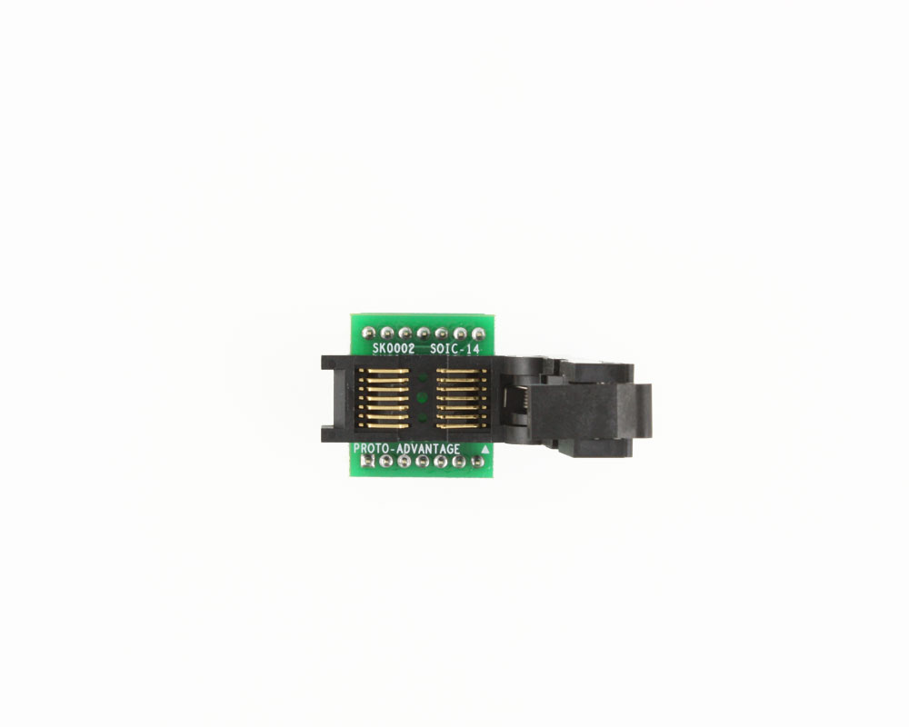 SOIC-14 Socket to DIP-14 Adapter (150 mil body, 1.27 mm pitch) 2