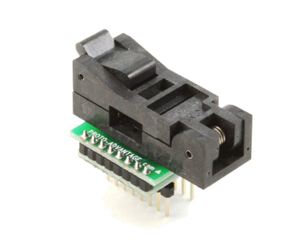 SOIC-16 Socket to DIP-16 Adapter (300 mil body, 1.27 mm pitch) 0