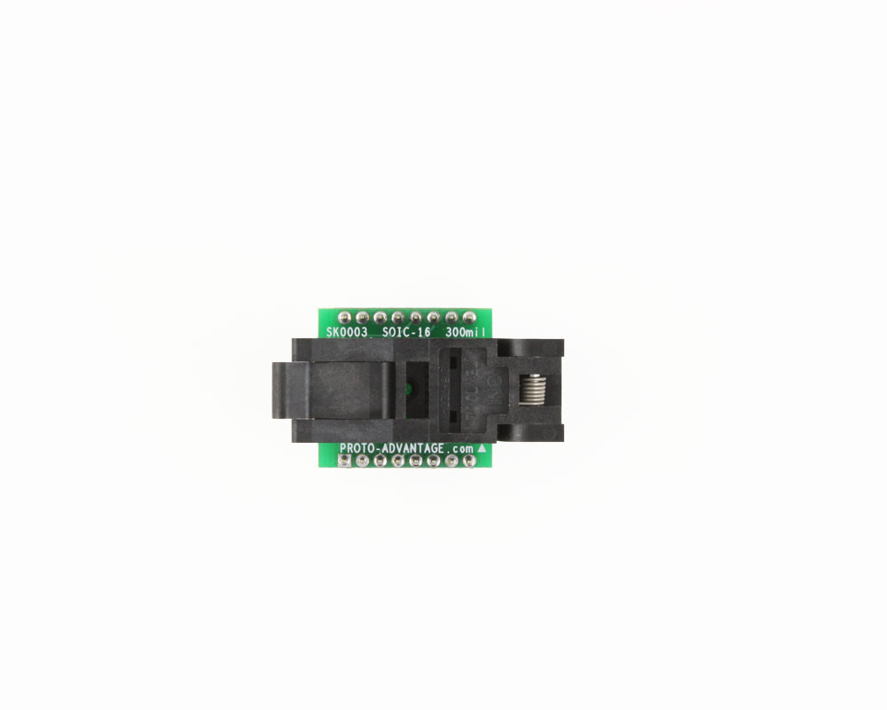 SOIC-16 Socket to DIP-16 Adapter (300 mil body, 1.27 mm pitch) 1