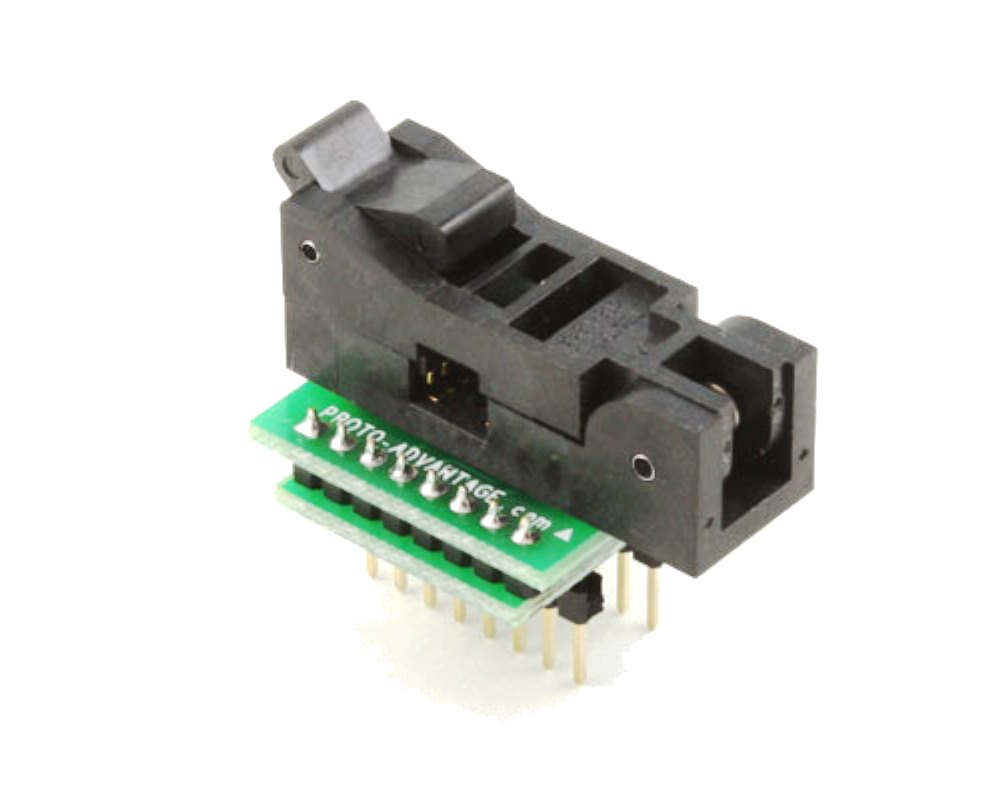 SOIC-16 Socket to DIP-16 Adapter (150 mil body, 1.27 mm pitch) 0