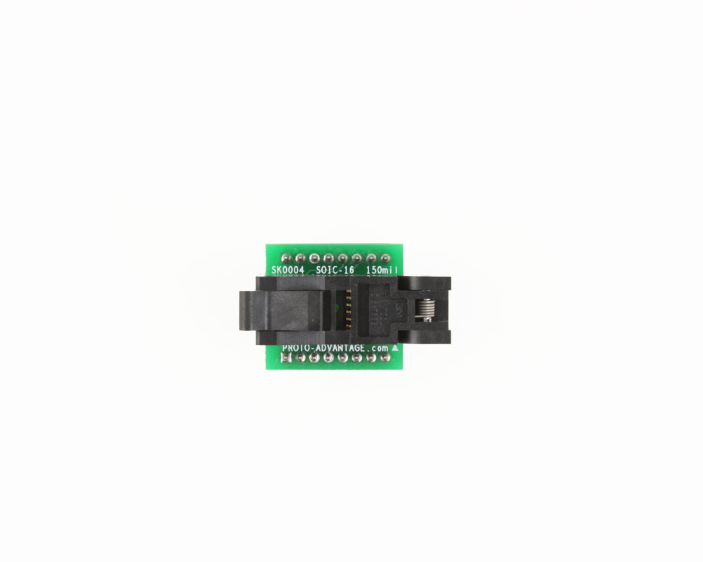 SOIC-16 Socket to DIP-16 Adapter (150 mil body, 1.27 mm pitch) 1