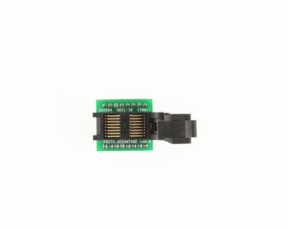 SOIC-16 Socket to DIP-16 Adapter (150 mil body, 1.27 mm pitch) 2