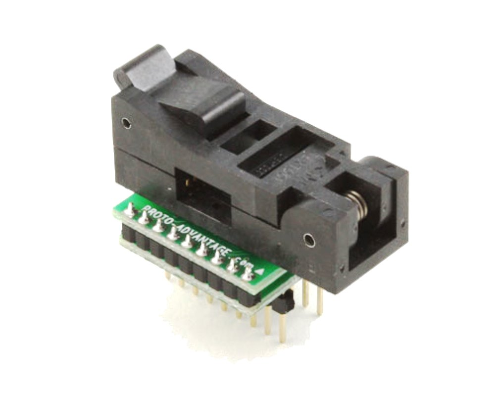 SOIC-18 Socket to DIP-18 Adapter (300 mil body, 1.27 mm pitch) 0