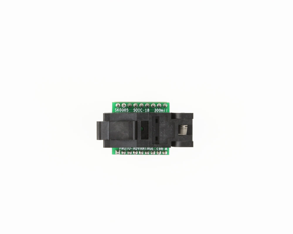 SOIC-18 Socket to DIP-18 Adapter (300 mil body, 1.27 mm pitch) 1