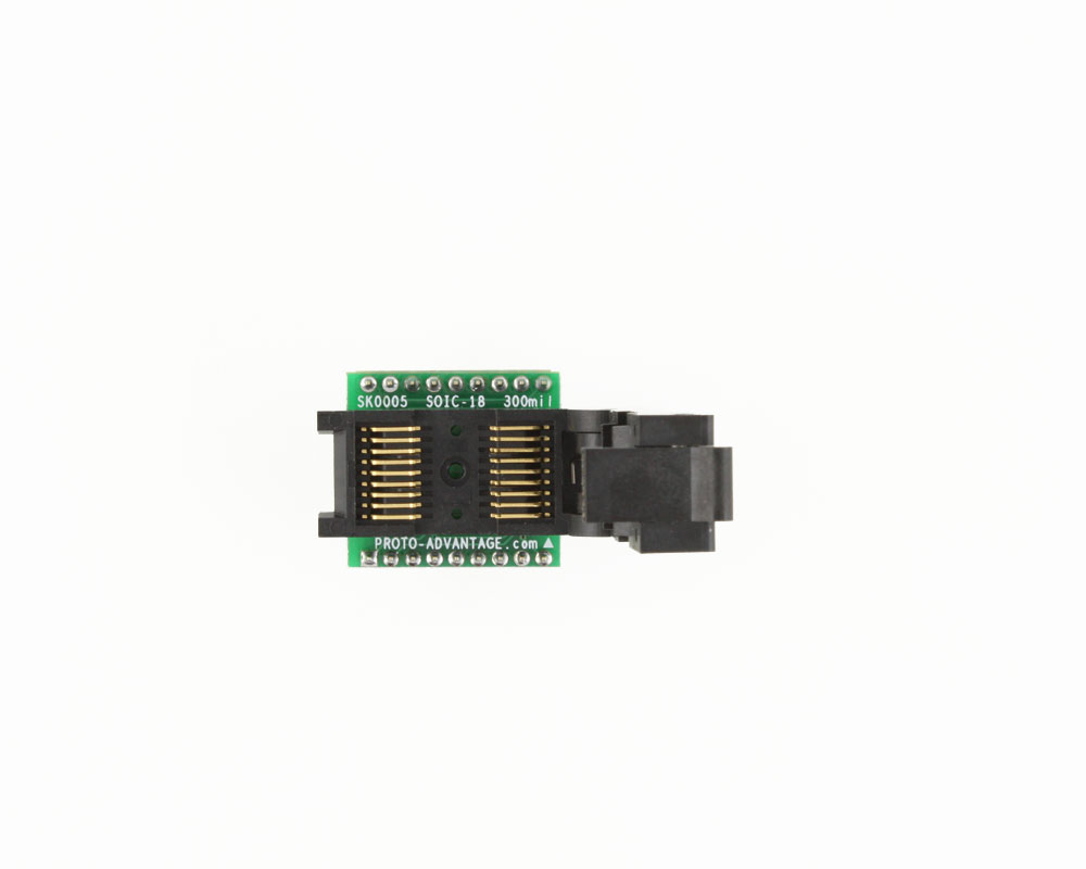 SOIC-18 Socket to DIP-18 Adapter (300 mil body, 1.27 mm pitch) 2