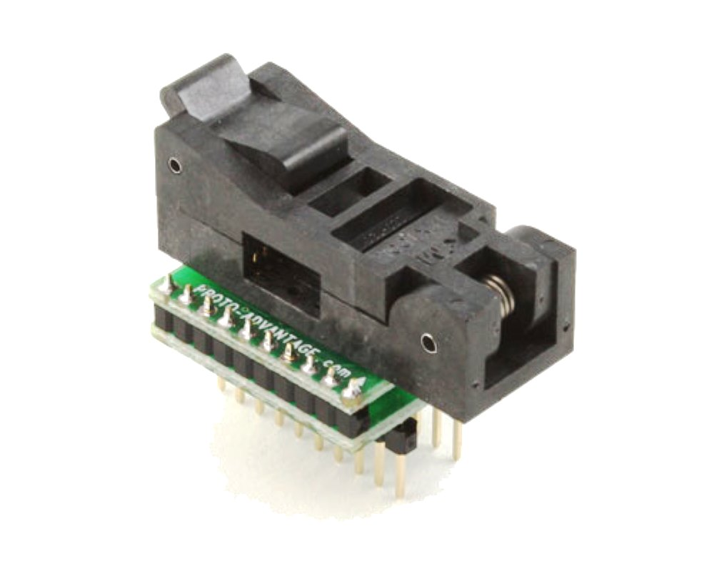SOIC-20 Socket to DIP-20 Adapter (300 mil body, 1.27 mm pitch) 0