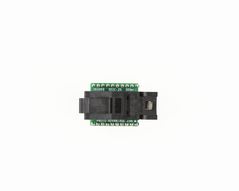 SOIC-20 Socket to DIP-20 Adapter (300 mil body, 1.27 mm pitch) 1
