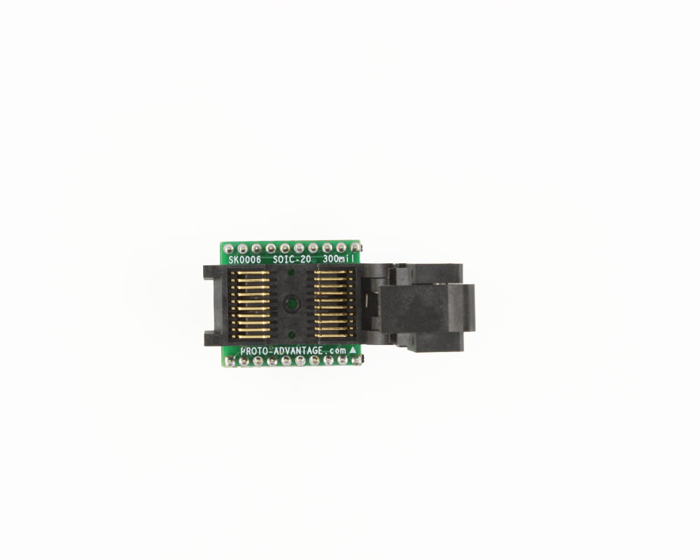 SOIC-20 Socket to DIP-20 Adapter (300 mil body, 1.27 mm pitch) 2