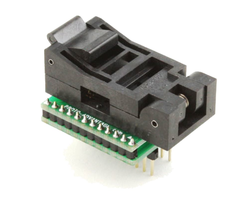 SOIC-24 Socket to DIP-24 Adapter (300 mil body, 1.27 mm pitch) 0