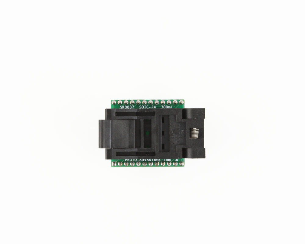 SOIC-24 Socket to DIP-24 Adapter (300 mil body, 1.27 mm pitch) 1