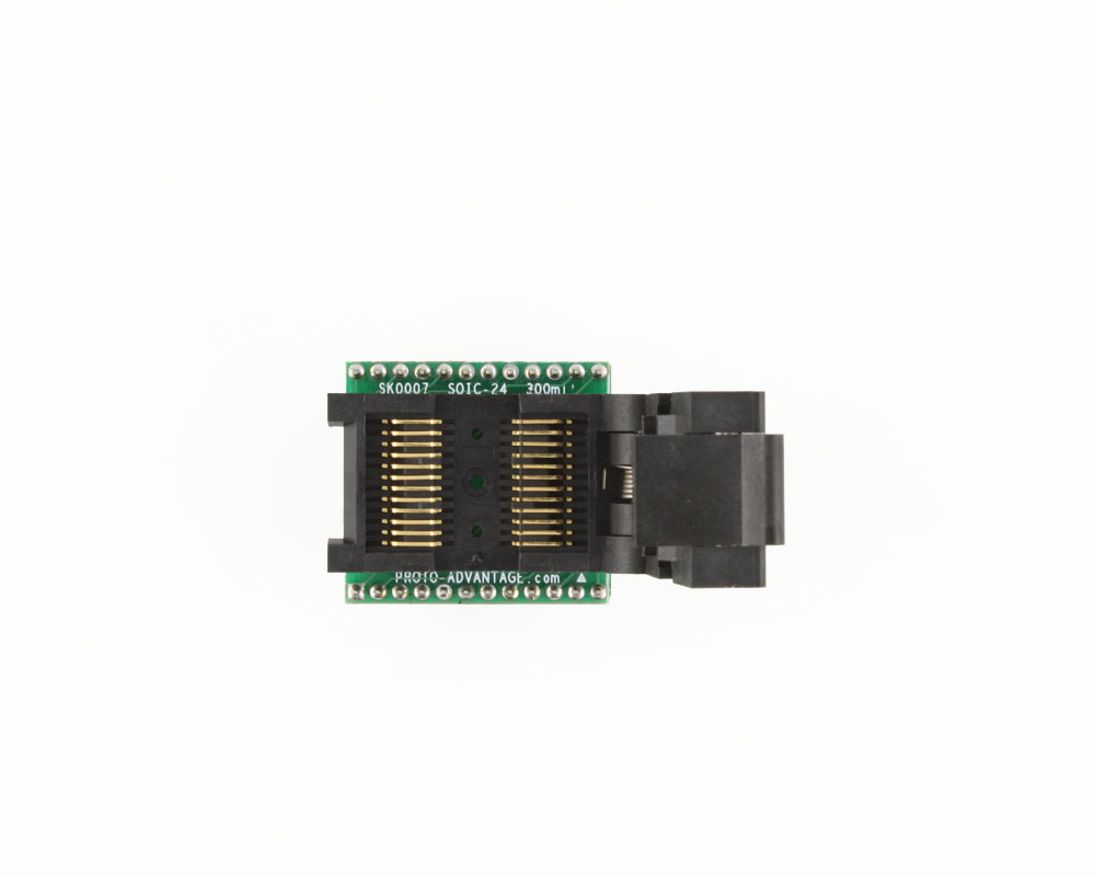 SOIC-24 Socket to DIP-24 Adapter (300 mil body, 1.27 mm pitch) 2