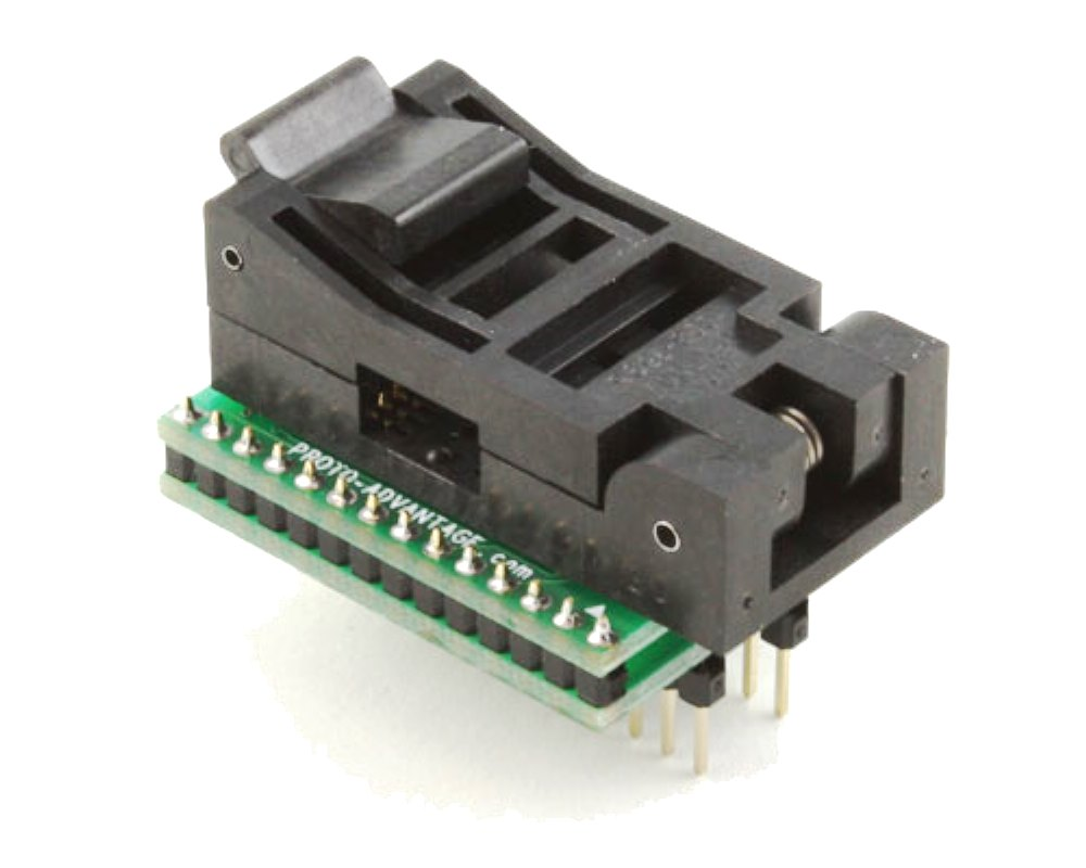 SOIC-28 Socket to DIP-28 Adapter (300 mil body, 1.27 mm pitch) 0