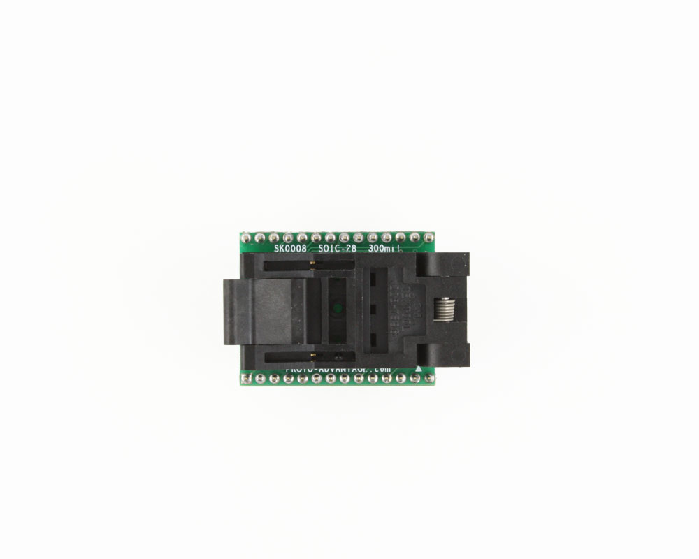 SOIC-28 Socket to DIP-28 Adapter (300 mil body, 1.27 mm pitch) 1