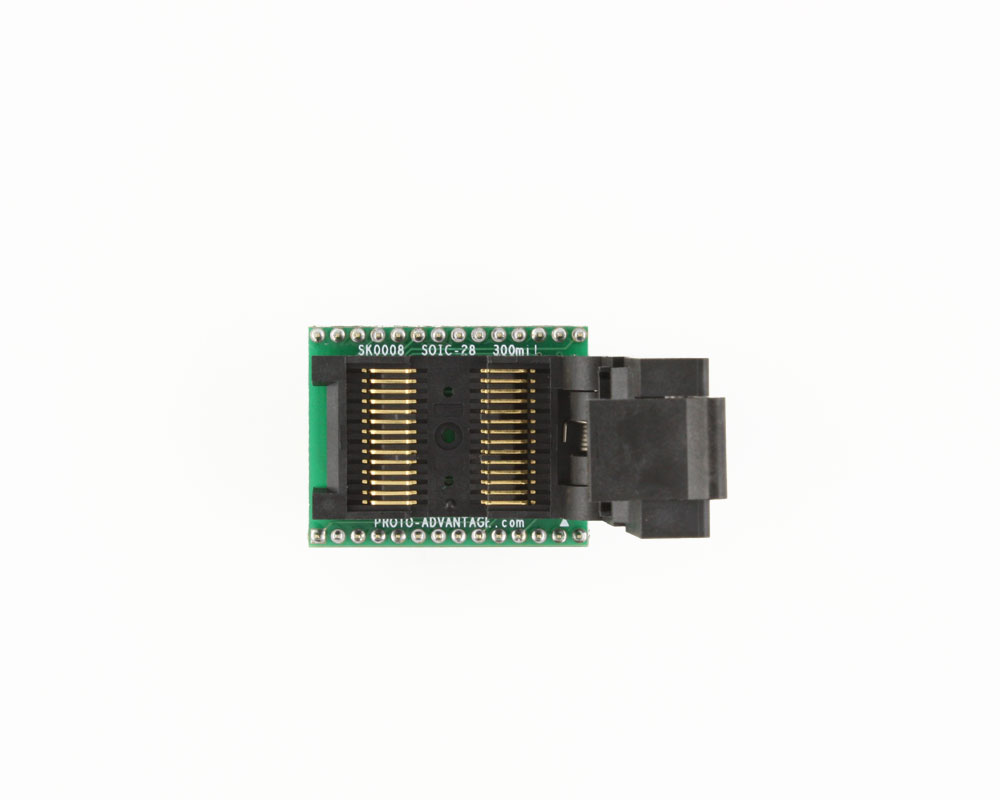 SOIC-28 Socket to DIP-28 Adapter (300 mil body, 1.27 mm pitch) 2
