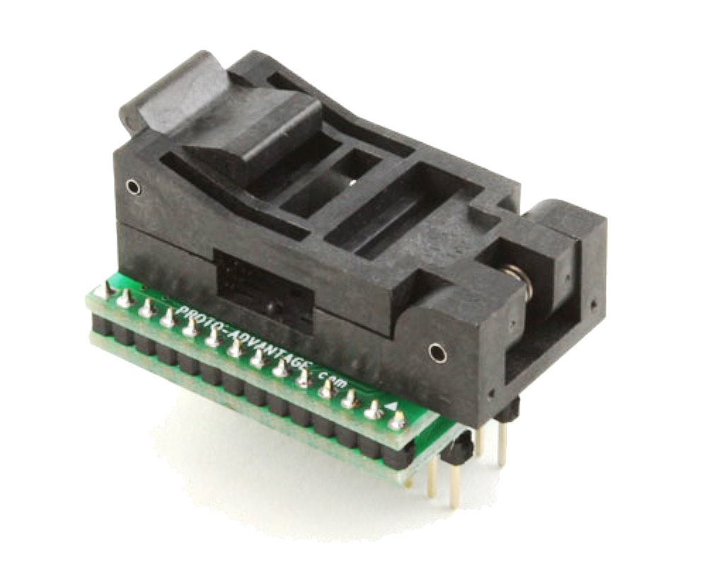 SOIC-28 Socket to DIP-28 Adapter (330 mil body, 1.27 mm pitch) 0