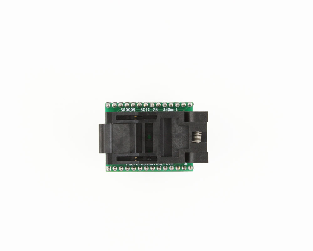 SOIC-28 Socket to DIP-28 Adapter (330 mil body, 1.27 mm pitch) 1