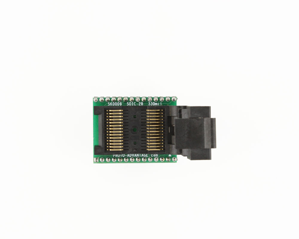 SOIC-28 Socket to DIP-28 Adapter (330 mil body, 1.27 mm pitch) 2