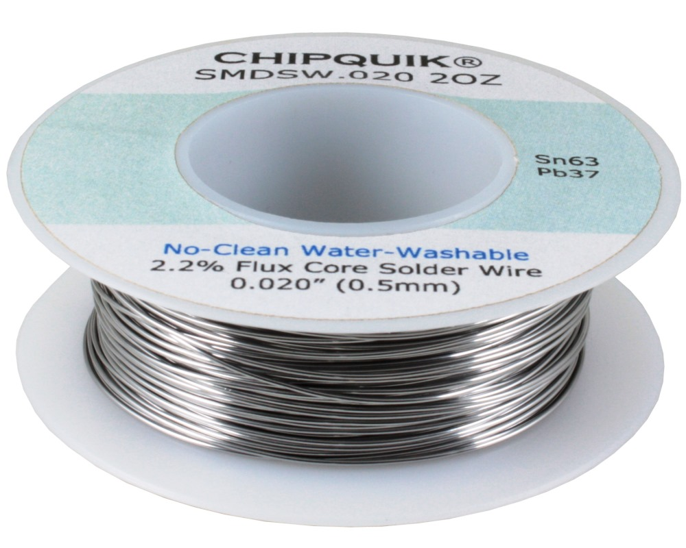 CHIPQUIK Solder Wire 63/37 Tin/Lead no-clean .020 2oz Spool 0