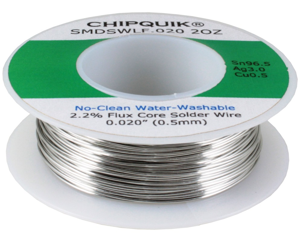 CHIPQUIK Solder Wire Lead Free no-clean .020 2oz Spool 0