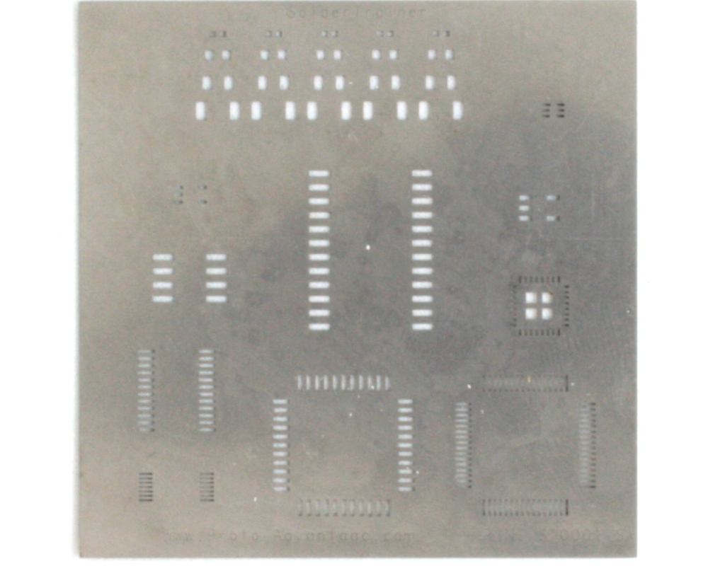 Surface Mount Soldering Practice Kit Stencil 0