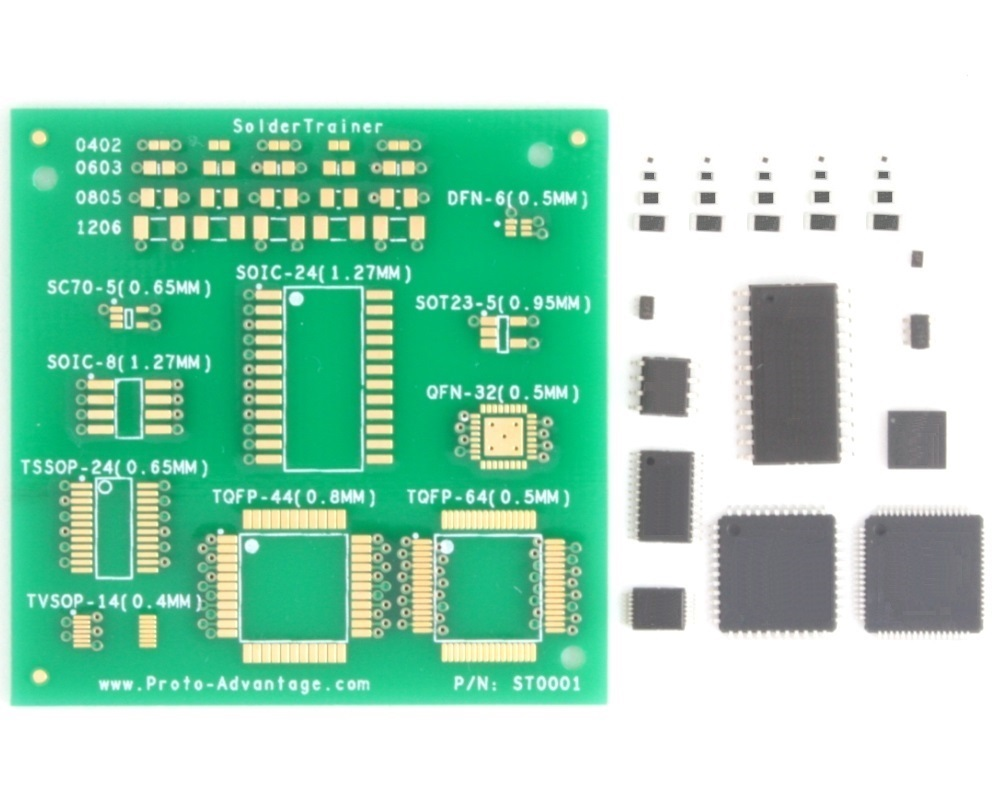 Surface Mount Soldering Practice Kit (with 30 SMD parts) 0