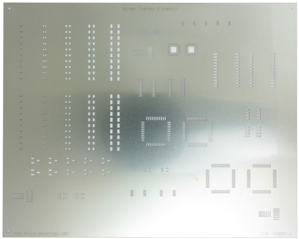Surface Mount Soldering Practice Kit Stencil for ST0002 0