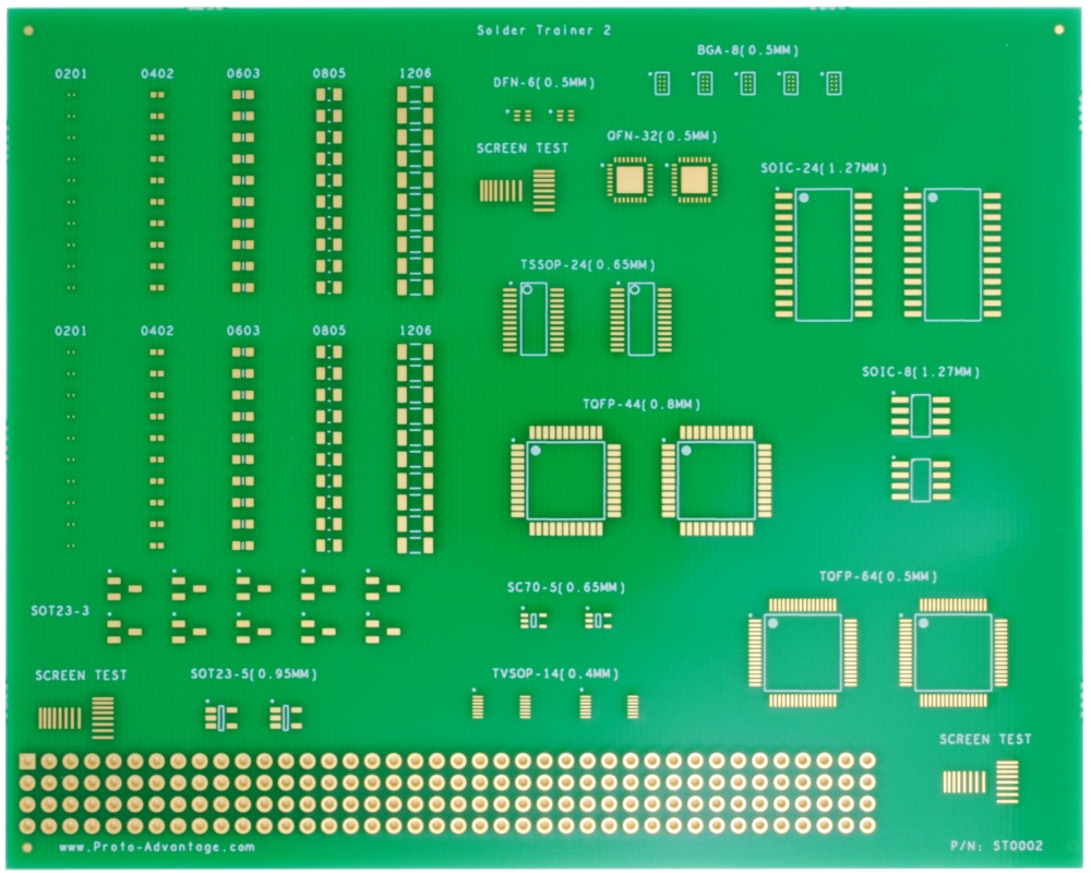 Surface Mount Soldering Practice Kit (with 135 SMD parts) 0