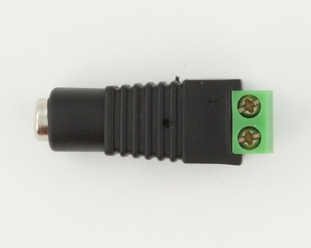 Barrel Connector (Female 5.5x2.1mm) to Screw Terminals 0