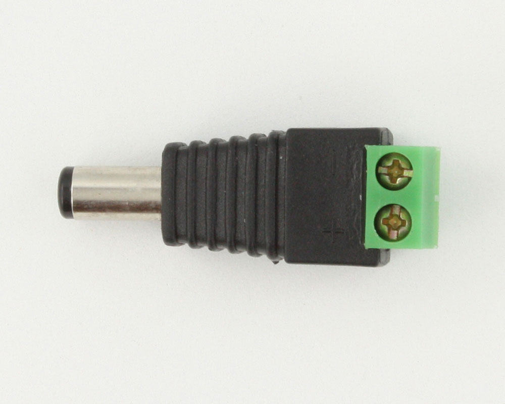 Barrel Connector (Male 5.5x2.1mm) to Screw Terminals 0