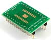 PowerPAD-24/PowerSOIC-24 to DIP-28 SMT Adapter (1.27 mm pitch, 300 mil body)