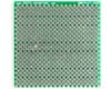 "Solder-in breadboard 2x2"" 1.27mm + 2.54mm pitch staggered plated holes"